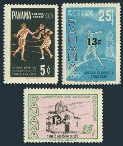 Panama 467,C349-C350,MNH.Michel 876-878. Value 1968. Greek Orthodox Church,Sport