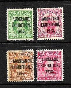 NEW ZEALAND 1913  AUCKLAND  EXHIBITION  SET 4     FU