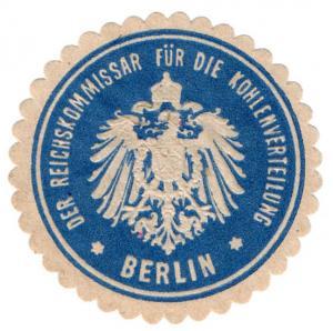 (I.B-CK) Germany (Great War) Cinderella : Commissioner of Coal (Berlin)