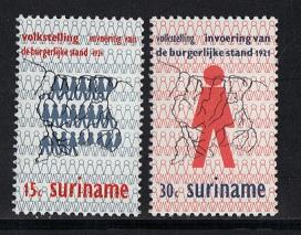 Surinam 1971  MNH  Census   civil registration complete