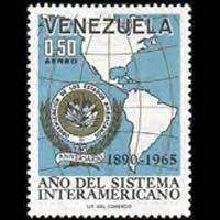 VENEZUELA 1965 - Scott# C914 OAS 75th.-Map Set of 1 NH