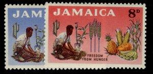JAMAICA QEII SG201-202, complete set, VLH MINT.