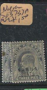 INDIA  NABHA (PP2807B)   KE 3P SG 37-37A   MOG