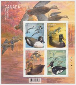 CANADA - #2166B  Duck Decoys Souvenir Sheet - MNH