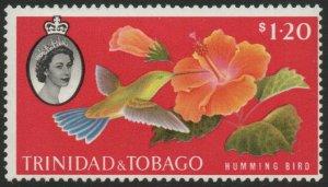 TRINIDAD & TOBAGO-1960-67 $1.20 'Humming Bird' Sg 296 MOUNTED MINT V46167