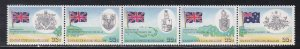 Cocos Islands # 60a, British Flags & Coat of Arms, Folded, NH, 1/2 Cat.