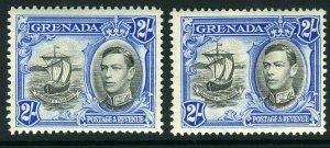 ASCENSION-1924-33 8d Grey Black & Bright Violet TORN FLAG.  A lightly mounted