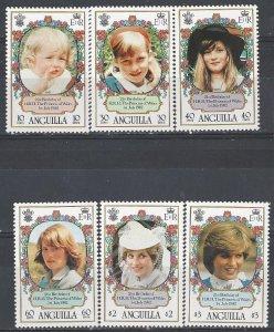 Anguilla 485-90   MNH    Princess Diana 21st Birthday