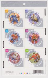 Canada -  #1972 (#BK265) Mint  2003NHL - Mahovlich,Mikita -USC Cat. $90.00 VF-NH