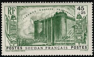French Sudan French Revolution B2 VF hr $11...Make me an Offer!