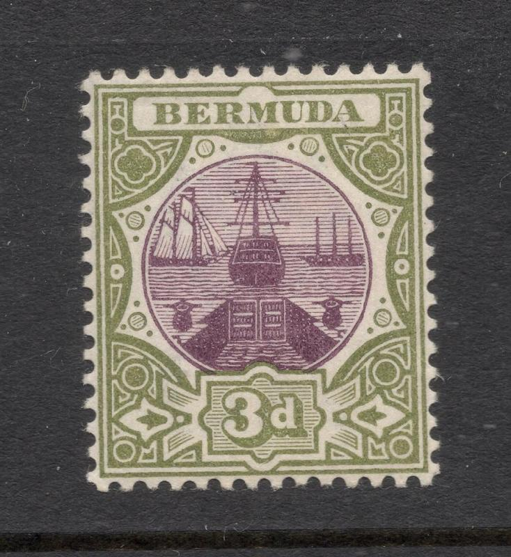 Bermuda #30 Olive Green & Violet - Unused - O.G.