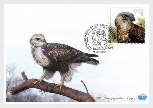 2015  ESTONIA  -  SG: 769  - HONEY BUZZARD - BIRD  FIRST DAY COVER