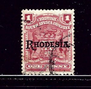 Rhodesia 83 Used 1909 overprint