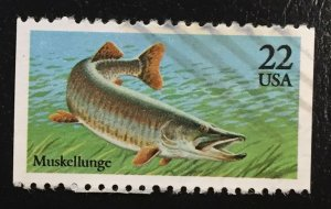 US #2205 Used F - Muskellunge Fish 22 cent