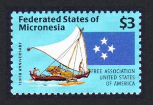Micronesia Association with USA 10th anniversary SG#528 SC#253