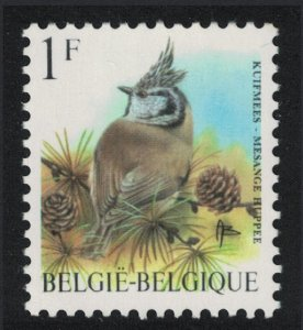 Belgium Crested Tit Bird 'Mesange Huppee' 1Fr SG#3303 MI#2809 SC#1432