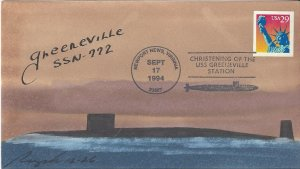 USS Greeneville SSN 722  US Navy Christening  Rogak Cover