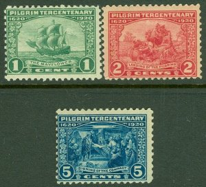 EDW1949SELL : USA 1920 Scott #548-50 Mint Never Hinged. Catalog $97.00.