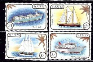 St Kitts 165-68 MNH 1985 Ships