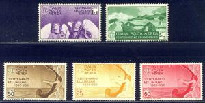 ITALY #C79-83 Mint NH - 1935 Bellini Airmail Set