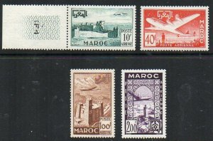 French Morocco: 1952 Air set (4) SG 414-7 mint