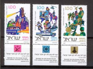 ISRAEL 1977  MNH SC.642/644 Police Force