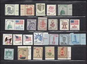 US Scott # 1581 /1623  Americana Complete Set of 24 MNH