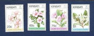 KIRIBATI - Scott 652-655 - FVF MNH - Flowers - 1994