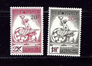 Belgium Q371-72 MVLH 1959 surcharges
