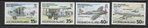 ASCENSION ISLAND - 1998 RAF 80th ANNIVERSARY - SCOTT 697 TO 700 - MNH