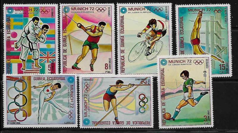 Equatorial Guinea Summer Olympic Sports Mint NH - no catalogue number