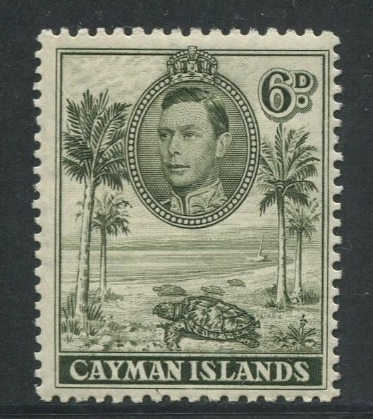 Cayman Islands -Scott 107a -KGVI Definitive Issue -1938- MNH -Single 6d Stamp