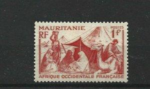MAURITANIA  1938 - 40  1F SCARLET           MH