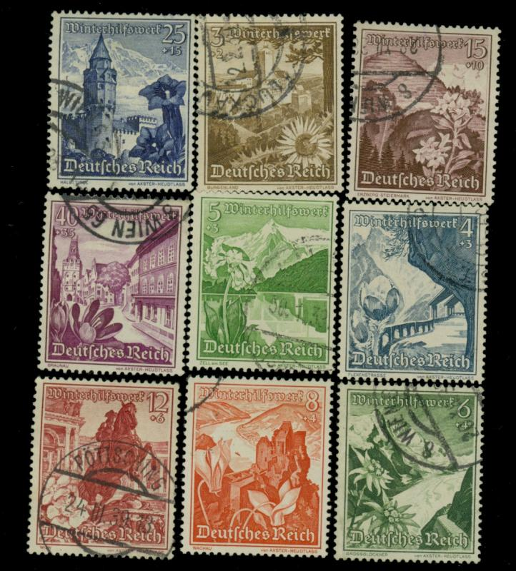 Germany #B123-131 Used F-VF HR's Cat$20.70