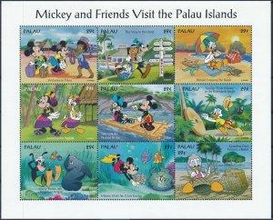 [I1065] Palau 1994 Mickey and friends tourism good sheet very fine MNH