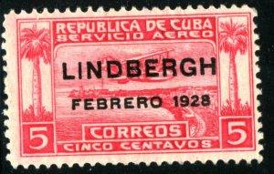 CUBA #C2, UNUSED MINT HINGED AIRMAIL - 1928 - CUBA358NS10