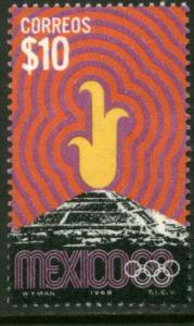 MEXICO 1001, $10P 1968 Olympics, Mexico City. MNH