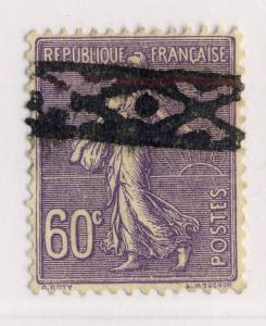 FRANCE - ca.1924-25 - 60c SEMEUSE OBLITÉRÉE ROULETTE BELGE - TB