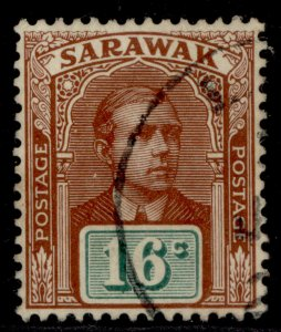 SARAWAK EDVII SG57, 16c chestnut & green, FINE USED.