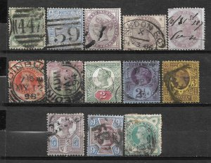 COLLECTION LOT #735 GREAT BRITAIN 13 STAMPS 1880+ CV+$160