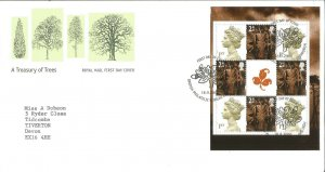 A Treasury Of Trees Royal Mail First Day Cover 2000 Edinburgh Pmark Z9336