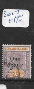 LEEWARD ISLANDS  (PP1406B)  QV  1D/4D  SG 17  VFU