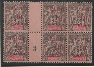 Tahiti #30 VF MNH PLATE BLOCK 6 GP - 1903 10c on 25c Peace and Commerce