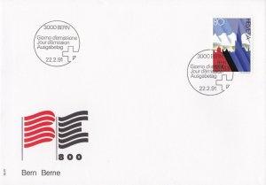 SW90) Switzerland 1991 800th Anniversary of Bern FDC.
