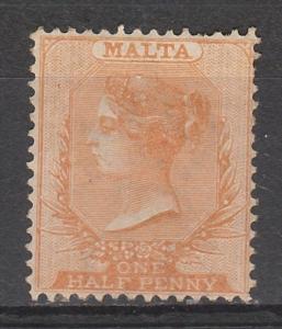 MALTA 1863 QV 1/2D WMK CROWN CC PERF 14