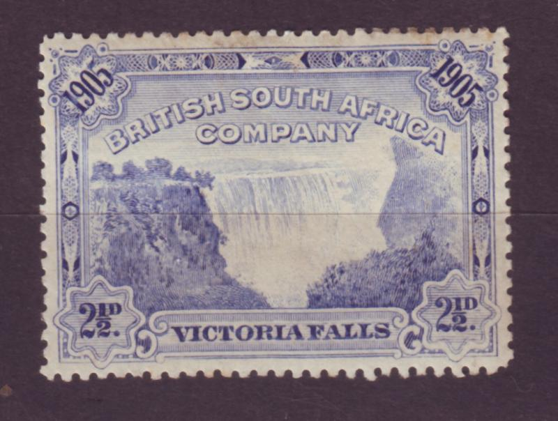 J17066 JLstamps 1905 rhodesia mh #77 victoria falls