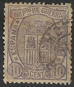 Spain War Tax 1875 Scott# MR4 Used