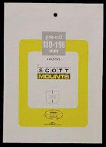 Scott/Prinz Pre-Cut Souvenir Sheets Small Panes Stamp Mounts 130x198 #999 Black