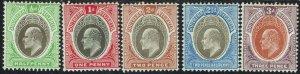 SOUTHERN NIGERIA 1904 KEVII 1/2D - 3D WMK MULTI CROWN CA
