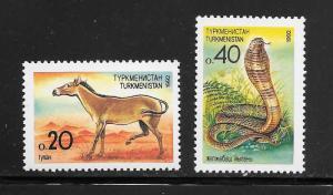 Turkmenistan #29-30 MNH Singles (my7)